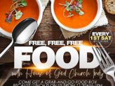 Free Food Every 1st Saturday!