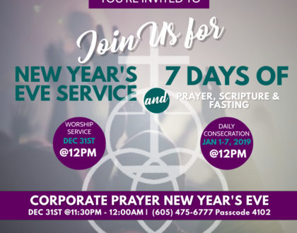 New Year's Eve Service and New Year Revival